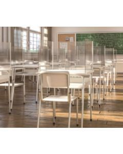 "Large Student Desk Acrylic Glass 25""W X 24""D X 30""H"