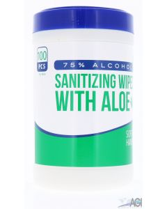 Hand Sanitizer Wipes with Aloe 5x6 (100 count)