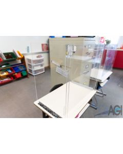 "Small Student Desk Acrylic Glass 25""W X 16""D X 24""H"