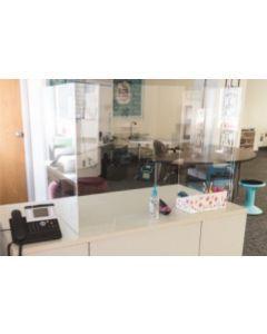 "Teacher Desk Acrylic Glass 46""W X 24""D X 30""H"