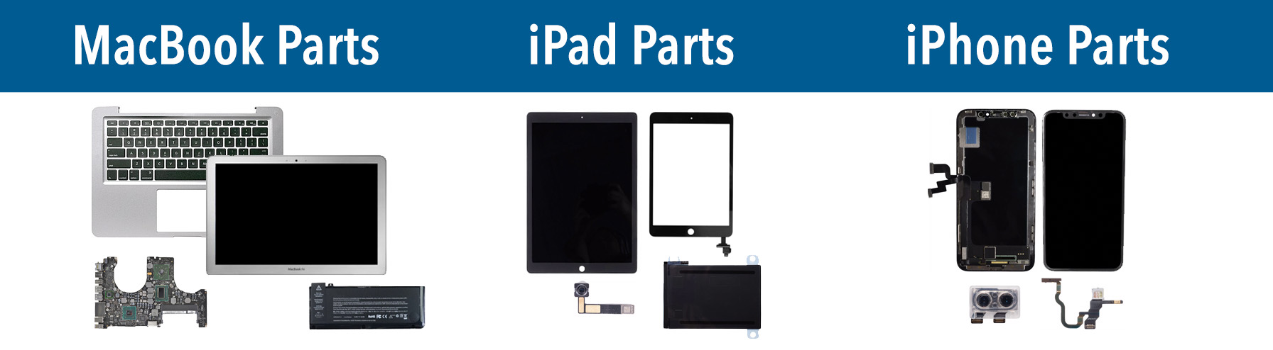 Macbook, iPad, iPhone Parts